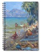 Agrilesa Beach Athens  Spiral Notebook