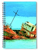 Aground Off Jamaica Spiral Notebook