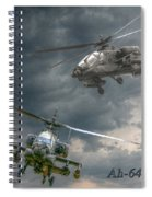 Ah-64 Apache Attack Helicopter In Flight Spiral Notebook