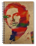 Aidan Turner As Poldark Watercolor Portrait Spiral Notebook