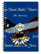 Air Force Desert Storm Spiral Notebook