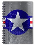 Air Force Logo On Riveted Steel Plane Fuselage Spiral Notebook