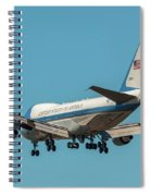 Air Force One On Final Approach Into Charleston South Carolina Spiral Notebook