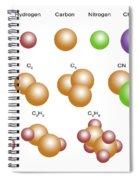 Air Molecules Spiral Notebook