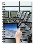 Air Travel Concept Spiral Notebook