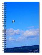 Airborne Kitesurfer  Spiral Notebook