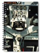 Aircraft Airplane Control Panel Spiral Notebook