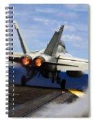 aircraft military F 18 Hornet Spiral Notebook