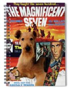 Airedale Terrier Art Canvas Print - The Magnificent Seven Movie Poster Spiral Notebook