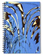 Airplane And Crane Abstract Spiral Notebook