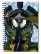 Airplane Propeller And Engine Navy Spiral Notebook
