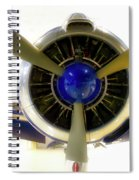 Airplane Propeller And Engine T28 Trojan 01 Spiral Notebook