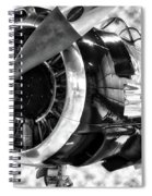 Airplane Propeller And Engine T28 Trojan 02 Bw Spiral Notebook