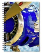 Airplane Propeller And Engine T28 Trojan 02 Spiral Notebook