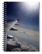 Airplane Wing In Clouds Spiral Notebook