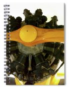 Airplane Wooden Propeller And Engine Timm N2t-1 Tutor Spiral Notebook