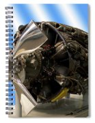 Airplanes Prop And Engine Spiral Notebook