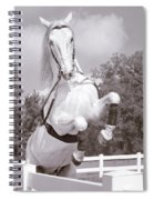 Airs Above The Ground - Lipizzan Stallion Rearing Spiral Notebook