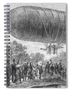 Airship Ascent, 1883 Spiral Notebook