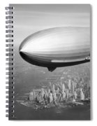 Airship Flying Over New York City Spiral Notebook