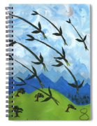 Airy Eight Of Wands Illustrated Spiral Notebook