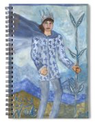 Airy King Of Wands Spiral Notebook