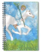 Airy Knight Of Wands Spiral Notebook