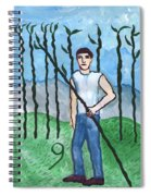 Airy Nine Of Wands Illustrated Spiral Notebook
