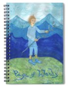 Airy Page Of Wands Spiral Notebook
