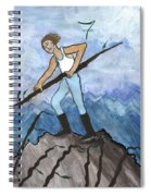Airy Seven Of Wands Illustrated Spiral Notebook