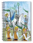 Airy Six Of Wands Illustrated Spiral Notebook