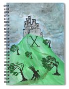 Airy Ten Of Wands Illustrated Spiral Notebook