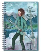 Airy Two Of Wands Illustrated Spiral Notebook