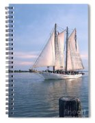 Aj Meerwald Sailing Up River Spiral Notebook