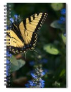 Ajuga With Tiger Butterfly Spiral Notebook