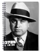 Al Capone Mugshot Painterly Spiral Notebook