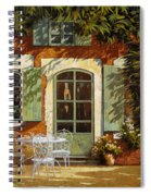 Al Fresco In Cortile Spiral Notebook