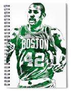 Al Horford Boston Celtics Pixel Art Spiral Notebook