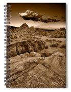Alabama Hills California B W Spiral Notebook