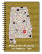Alabama Loves Dogs Spiral Notebook