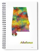 Alabama State Map Spiral Notebook