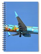 Alaska 737-990 N318as Spirit Of Disneyland Phoenix Sky Harbor November 27 2017 Spiral Notebook