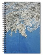 Alaska Map Wall Art Spiral Notebook