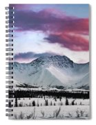 Alaskan Range At Sunset Spiral Notebook