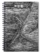 Alaskan Totem Pole Black White Spiral Notebook