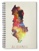 Albania Watercolor Map Spiral Notebook