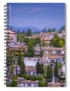Albayzin View Granada Spiral Notebook