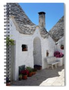 Alberobello Courtyard With Trulli Spiral Notebook