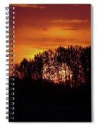 Alberta Sunset Spiral Notebook
