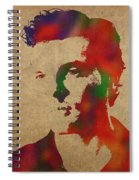 Alden Ehrenreich Watercolor Portrait Spiral Notebook